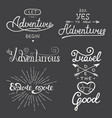set adventure and travel lettering for vector image vector image