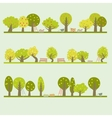 Set of different fruit trees vector image