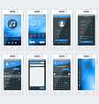 Set of of modern smartphone with apps Flat vector image vector image