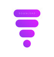 set of rounded buttons vector image