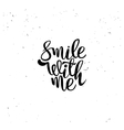 Smile with me element vector image vector image