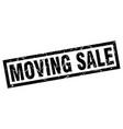 square grunge black moving sale stamp vector image vector image
