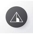 tent icon symbol premium quality isolated camping vector image