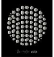 Watercolor silver splashes set vector image vector image