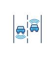 2 autonomous vehicles concept blue icon vector image