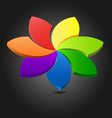 3D flower chromatic wheel vector image