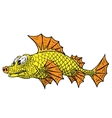 A small fish vector image