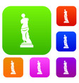ancient statue set collection vector image vector image