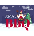 BBQ cooking xmas holiday party vector image vector image