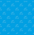 bed pattern seamless blue vector image