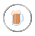 Beer mug icon in cartoon style isolated on white vector image