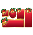 Bells red banners vector image