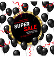 black balloons super sale vector image