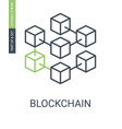 blockchain icon consists blocks connected in vector image vector image