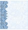 blue colour decorative pattern of ukrainian ethnic vector image vector image