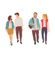 boyfriend and girlfriend with holding hands vector image