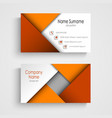 Business card with abstract orange triangles vector image vector image