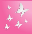 butterflies paper cut on the color background vector image vector image