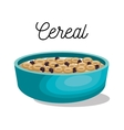 cereal dish healthy isolated vector image vector image