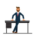 chairman of the board leaning on a table in the vector image vector image