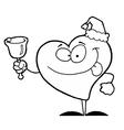 Chirstmas heart cartoon vector image vector image