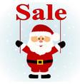 christmas sale santa santa with with banner vector image