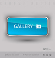 Chrome button with color plastic inside vector image vector image