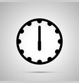 clock face showing 6-00 simple black icon vector image