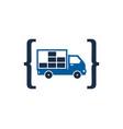 code delivery logo icon design vector image vector image