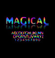 colorful stylized font vector image