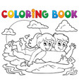 coloring book summer activity 1 vector image vector image