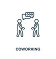 coworking outline icon thin style design from vector image vector image