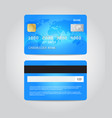 credit card template design two sides vector image