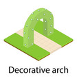 decorative arch icon isometric style vector image