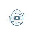 easter egg line icon concept easter egg flat vector image vector image