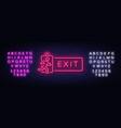 exit neon signboard exit neon sign design vector image