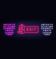 exit neon signboard neon sign design vector image