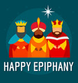 festive happy epiphany concept background flat vector image
