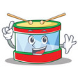 finger toy drum character cartoon vector image vector image