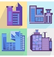 Flat set houses buildings architecture building vector image vector image