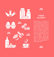 food allergy banner template in flat style vector image