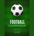 football banner template vector image