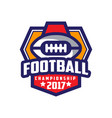 Football championship 2017 logo template american vector image
