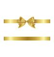 gold ribbon and bow vector image vector image