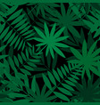green palm leaves pattern seamless vector image vector image