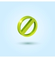 Green Stop icon vector image