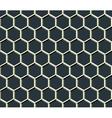 grid of hexagons vector image vector image