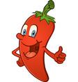 Hot pepper thumbs up cartoon