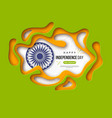 indian independence day holiday background paper vector image vector image