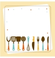 kitchen tools design vector image